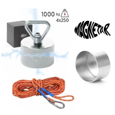 Pack aimant neodyme MAGNETAR TERROR - Protection - Corde 20m diamètre 8mm